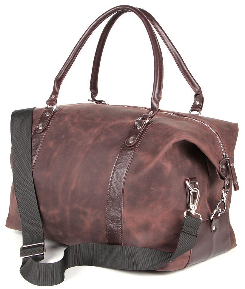 8893aeeb69b7 Купить Дорожная сумка из натуральной кожи SHVIGEL 00885, Коричневый ...