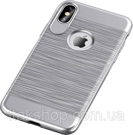 Чехол-накладка Usams Case-Lavan Series iPhone X Silver, фото 2