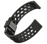 Спортивный ремешок с перфорацией Primo для часов Huawei Watch 2 - Black, фото 3