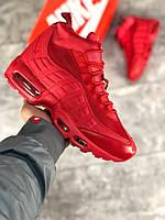 Ботинки Nike Air Max 95 Sneakerboots Red (реплика А+++ ), фото 1