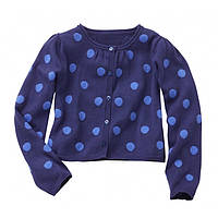 Болеро синее в горошек для девочки, Vertbaudet