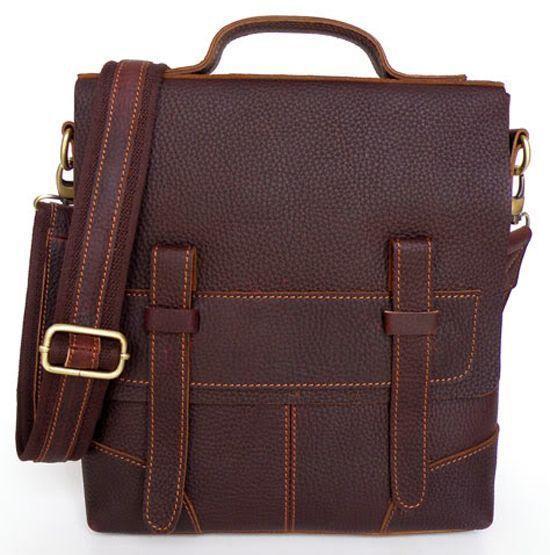 Сумка мужская Vintage 14060 кожа Коричневая, Коричневый