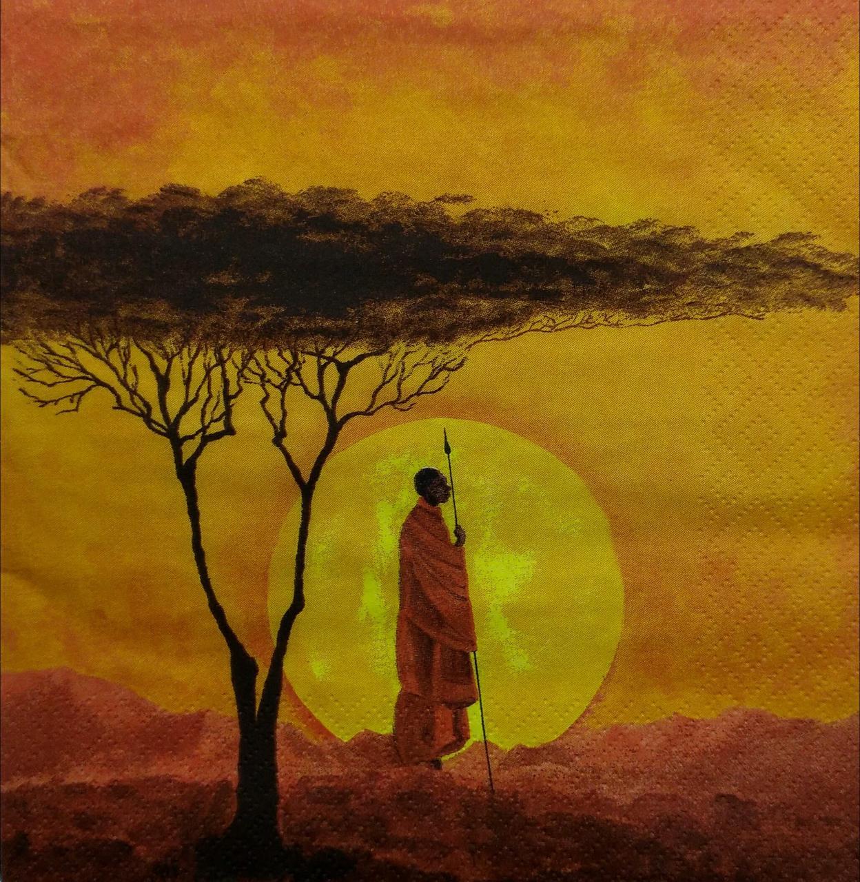 "Декупажные салфетки ""African Sunset"", 33*33 см, 17,5 г/м2, ti-flair"