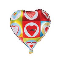 """Фольгированные воздушные шары, форма:сердце, """"Love"""" 18 дюймов/45 см, 1 штука"""