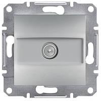 Телевизионная розетка TV проходая (алюминий) ASFORA SCHNEIDER ELECTRIC EPH3200361
