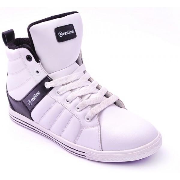 Зимние кроссовки Restime кожаные белые, ► [ 36  ]