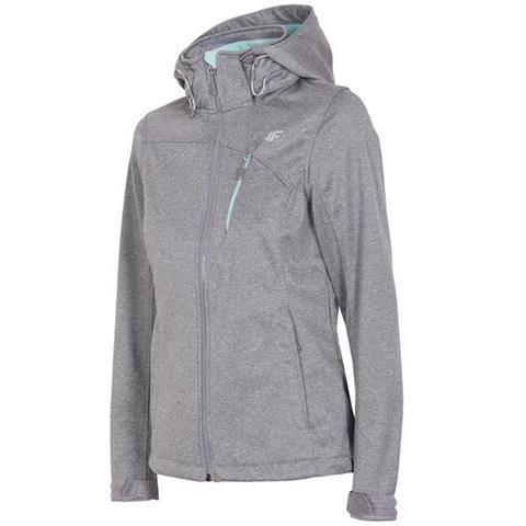 Куртка женская softshell 4F H4L18 SFD002 светло-серый меланж M/S/XL