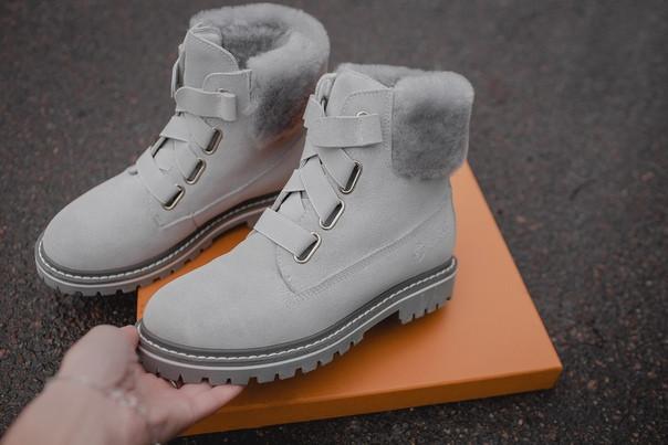 Женские зимние ботинки UGG (gray), зимние серые ботинки UGG, женские серые ботинки UGG