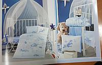 Постельное белье в детскую  кроватку 100*150 Ranforce (TM Aran Clasy) Super Wings, Турция, фото 1