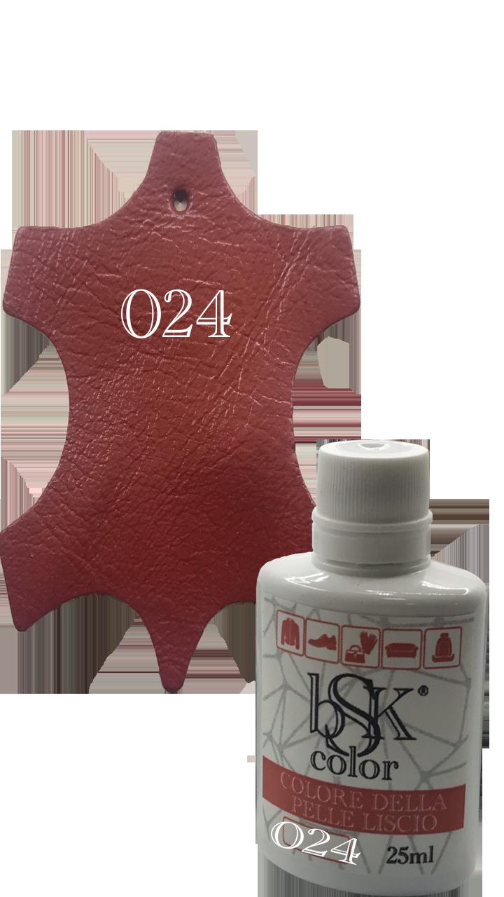 """Краска для гладкой кожи  """"bsk-color"""" 25ml томатный  №024"""