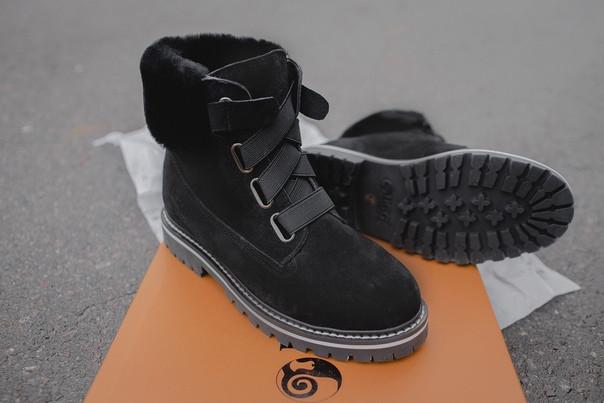 Женские зимние ботинки UGG (black), зимние черные ботинки UGG, женские черные ботинки UGG