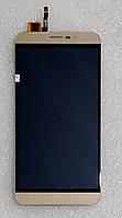 Модуль (дисплей+сенсор) для Cubot Note S золотий