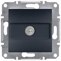 Телевизионная розетка TV проходая (антрацит) ASFORA SCHNEIDER ELECTRIC EPH3200371
