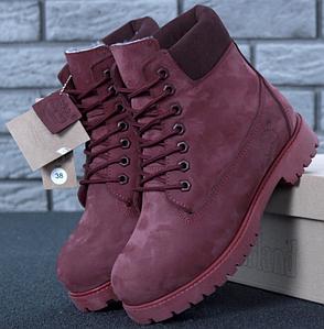 Женские Зимние ботинки Timberland, ботинки тимберленд сиреневые, реплика