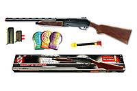 Игрушечное ружьё на пульках Edison Giocattoli Mike Peterson 87см 12-зарядное с мишенью (427/24), фото 1