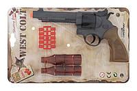 Игрушечный пистолет Edison Giocattoli West Colt 28см 8-зарядный с мишенью и пульками (465/32)