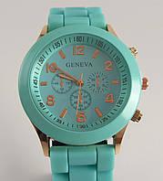 Часы наручные Geneva мятные (бирюзовые) код 012589