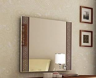 Дзеркало на стіну з ДСП/МДФ у вітальню спальню Віола ваніль 1000х800 Мир-Марк
