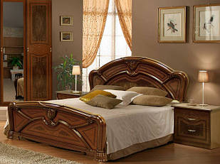 Ліжко з ДСП/МДФ в спальнювишня Прімула 1,6х2,0 з каркасом Миро-Марк