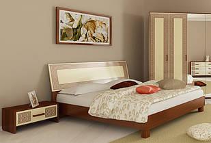 Ліжко з ДСП/МДФ в спальню Віола 1,6х2,0 з каркасом біле Миро-Марк