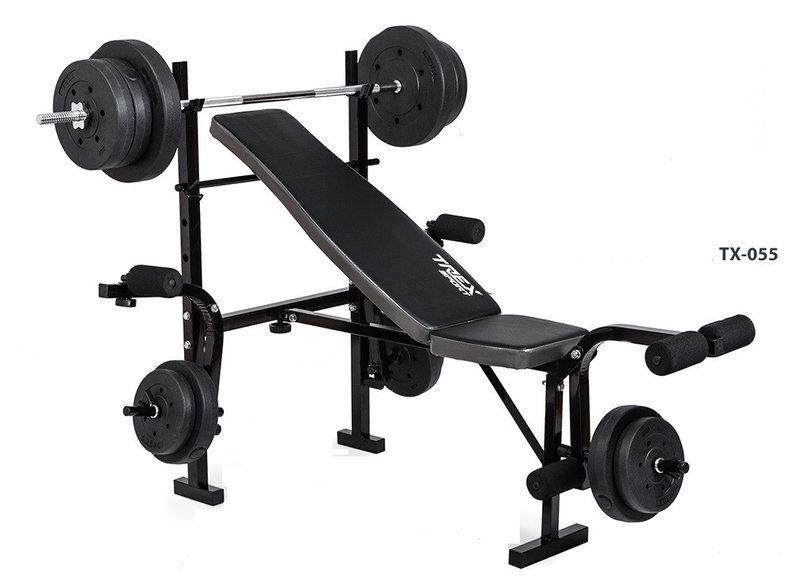 Скамья для жима Трекс-055 + Штанга 50 кг