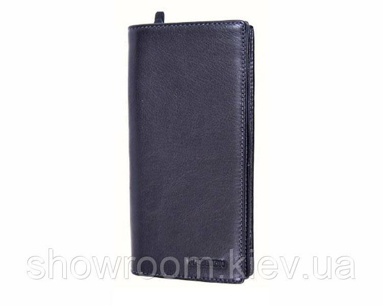 Бумажник мужской Hassion (61) кожаный черный