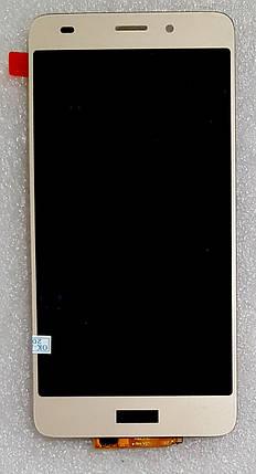 Модуль (сенсор + дисплей) для Huawei GT3 (NMO-L31), Honor 5C, Honor 7 Lite золотий, фото 2