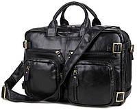 Сумка мужская Vintage 14219 трансформер Черная, Черный, фото 1