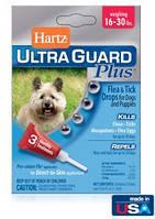 Hartz UltraGuard 4 в 1 Капли от блох и клещей для маленьких собак весом от 7 до 14 кг