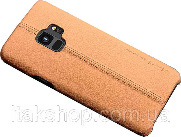 Чехол-накладка Usams Joe Series Samsung Galaxy S9 Light Brown, фото 2