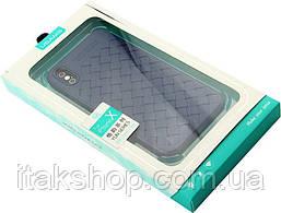 Чехол-накладка Usams Yun Series Apple iPhone X Blue, фото 3