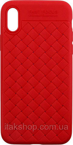 Чехол-накладка Usams Yun Series Apple iPhone X Red, фото 2