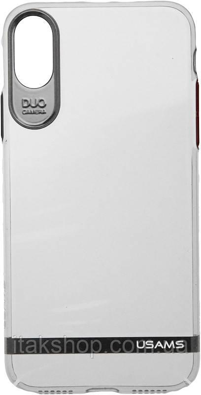 Чехол-накладка Usams Q-plating Series Apple iPhone X Silver