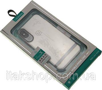 Чехол-накладка Usams Q-plating Series Apple iPhone X Silver, фото 2