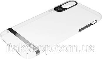Чехол-накладка Usams Q-plating Series Apple iPhone X Silver, фото 3