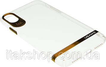 Чехол-накладка Usams Q-plating Series Apple iPhone X Light Gold, фото 2