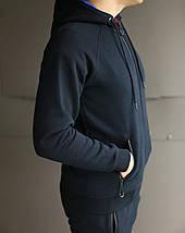 Спортивный зимний костюм с капюшоном мужской reebok на флисе , фото 3