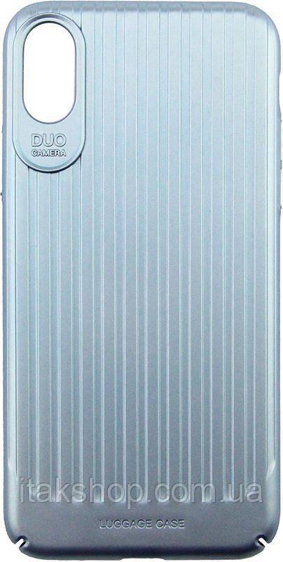 Чехол-накладка Usams Trunk Series Apple iPhone X Blue