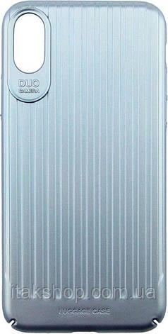 Чехол-накладка Usams Trunk Series Apple iPhone X Blue, фото 2