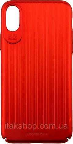 Чехол-накладка Usams Trunk Series Apple iPhone X Red, фото 2