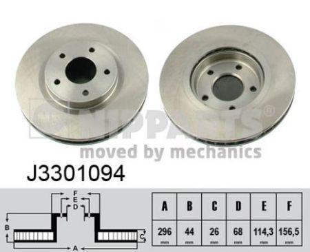 Тормозной диск передний NISSAN MURANO II, NISSAN QASHQAI, NISSAN X-TRAIL J3301094 NIPPARTS
