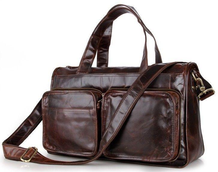 Сумка мужская Vintage 14243 кожаная Коричневая, Коричневый
