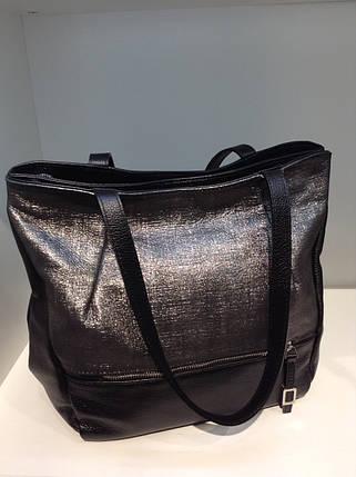 Черная кожаная сумка через плечо 1139, фото 2