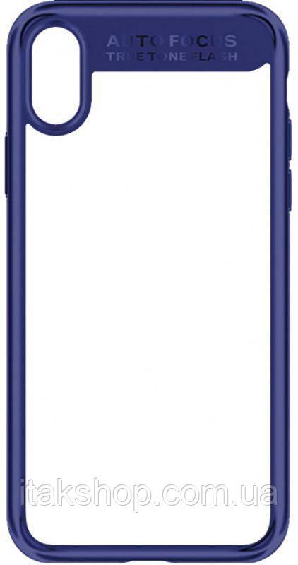 Чехол-накладка Usams Mant Series Apple iPhone X Blue