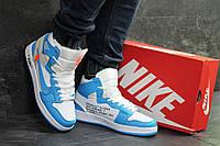 Кроссовки зимние мужские в стиле Nike Air Jordan 1 Retro,натуральная  кожа,натуральный мех 8083233b979