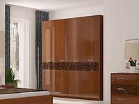 Шафа (шкаф) з ДСП/МДФ в спальню/вітальню/дитячу Флора 4Д без дзеркал Миро-Марк