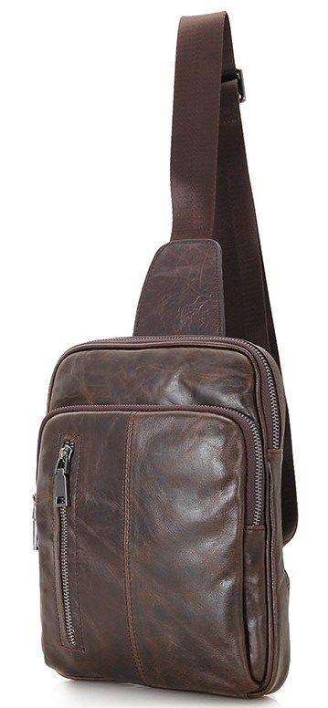 Сумка мужская Vintage 14415 Коричневая, Коричневый