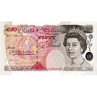 Деньги сувенирные 50 фунтов стерлингов . Пачка подарочных англйских фунтов 80 шт.