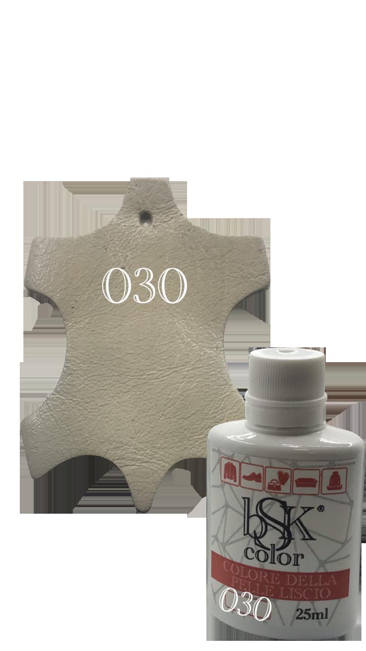 """Краска для гладкой кожи """"BSK color"""" цвета слоновая кость 25 мл №030"""