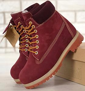 Женские Зимние Ботинки Timberland Red, ботинки тимберленд, реплика